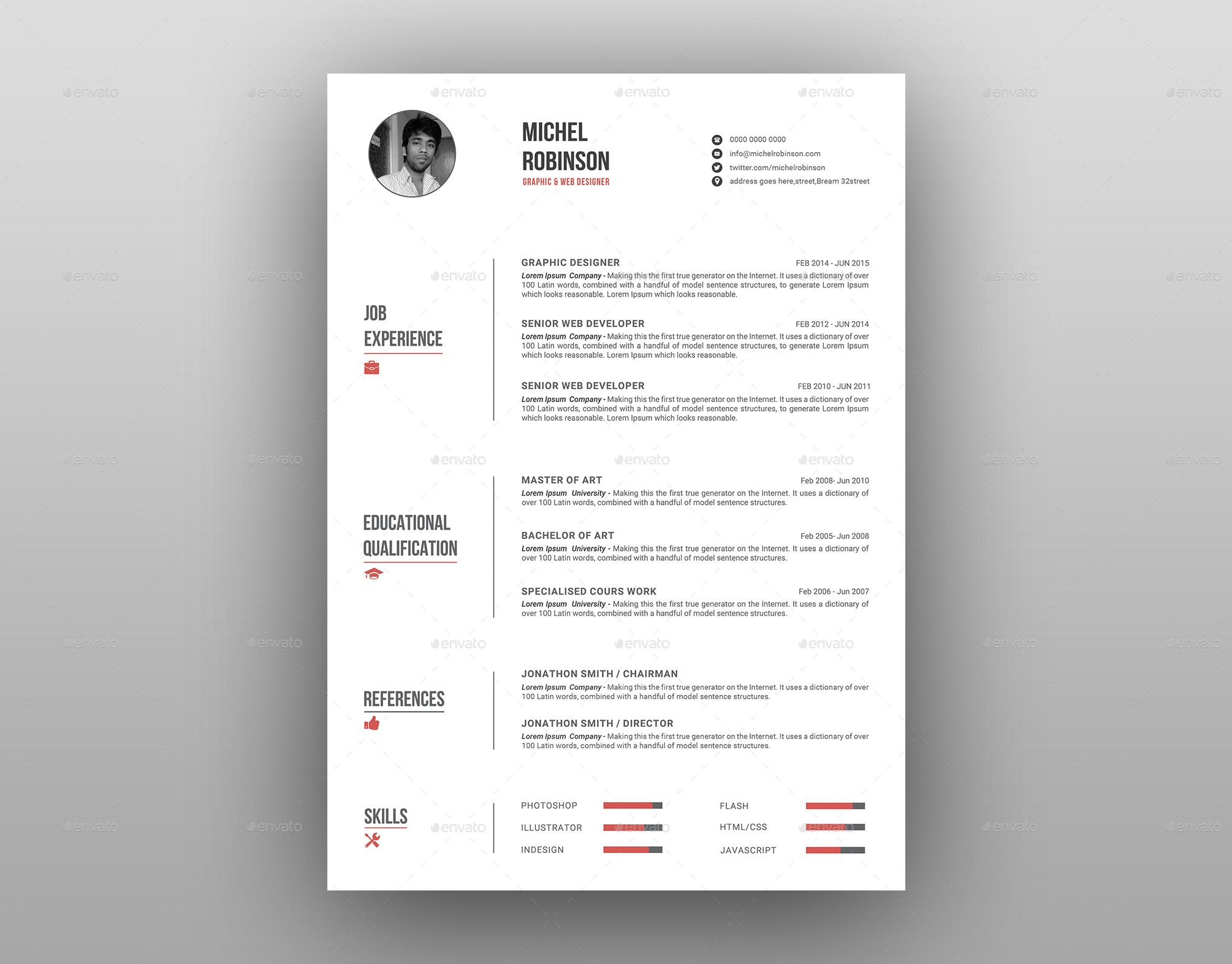 resume    cv by deviserpark