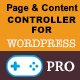 Page and content controller for WordPress - Professional Edition - CodeCanyon Item for Sale