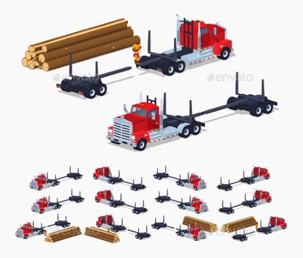 Empty Log Truck - Man-made Objects Objects
