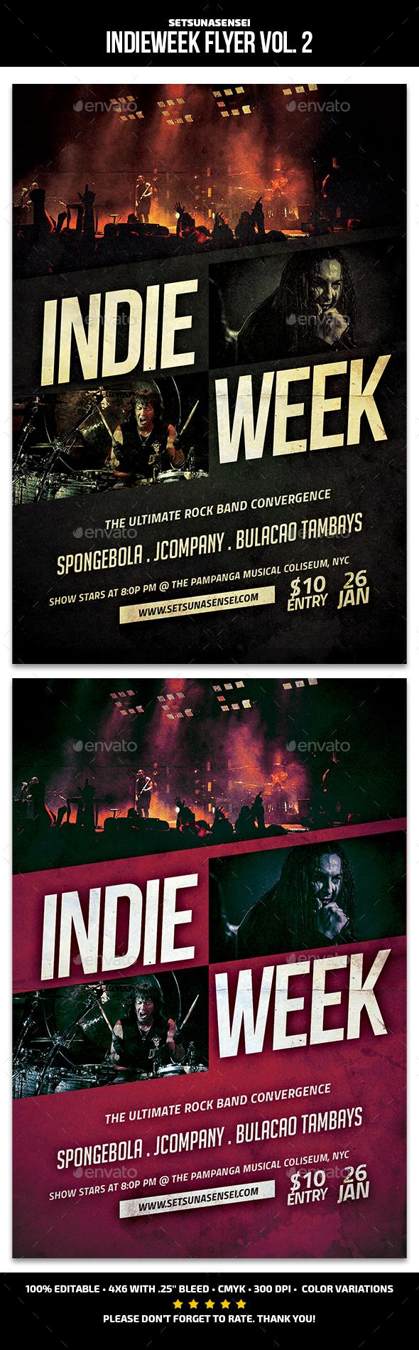 Indie Week Flyer Vol. 2 - Concerts Events
