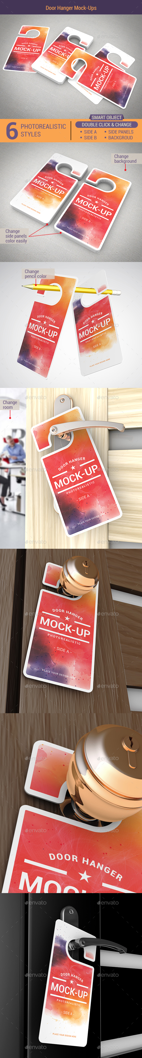 Door Hanger Mock-Ups - Miscellaneous Print