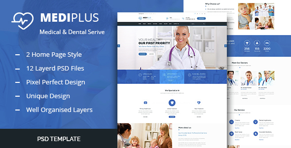 Medi Plus – Health And Medical HTML Template