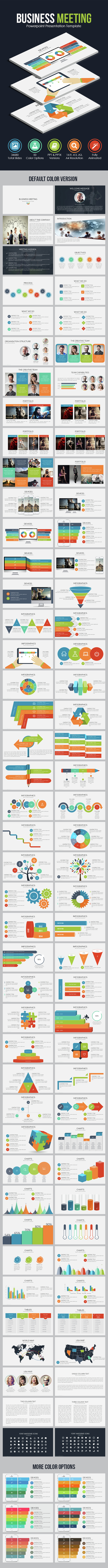 Business Meeting - Powerpoint Presentation Template - Business PowerPoint Templates