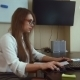 Attractive Business Woman Working With Computer In Office - VideoHive Item for Sale
