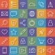 Thin Lines Web Icons Set for Mobile Apps - GraphicRiver Item for Sale