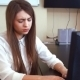 Young Business Woman Has a Headache From Working At The Computer  - VideoHive Item for Sale