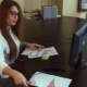 Young Businesswoman Overwhelmed By Too Much Paperwork In Office - VideoHive Item for Sale