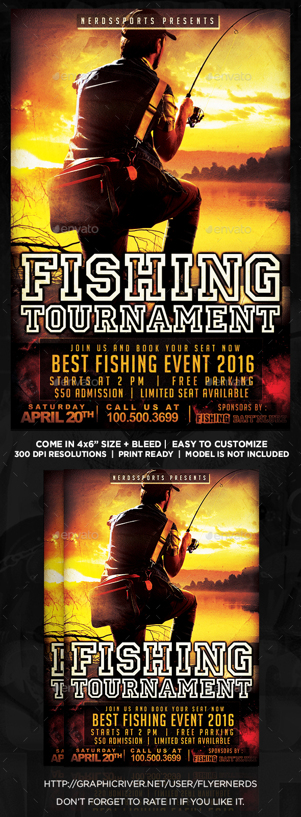 Fishing Tournament Sports Flyer - Sports Events