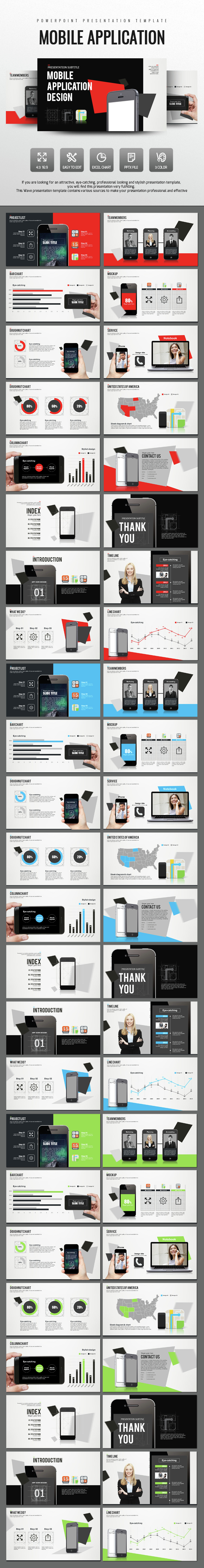 Mobile Application Design PowerPoint - PowerPoint Templates Presentation Templates