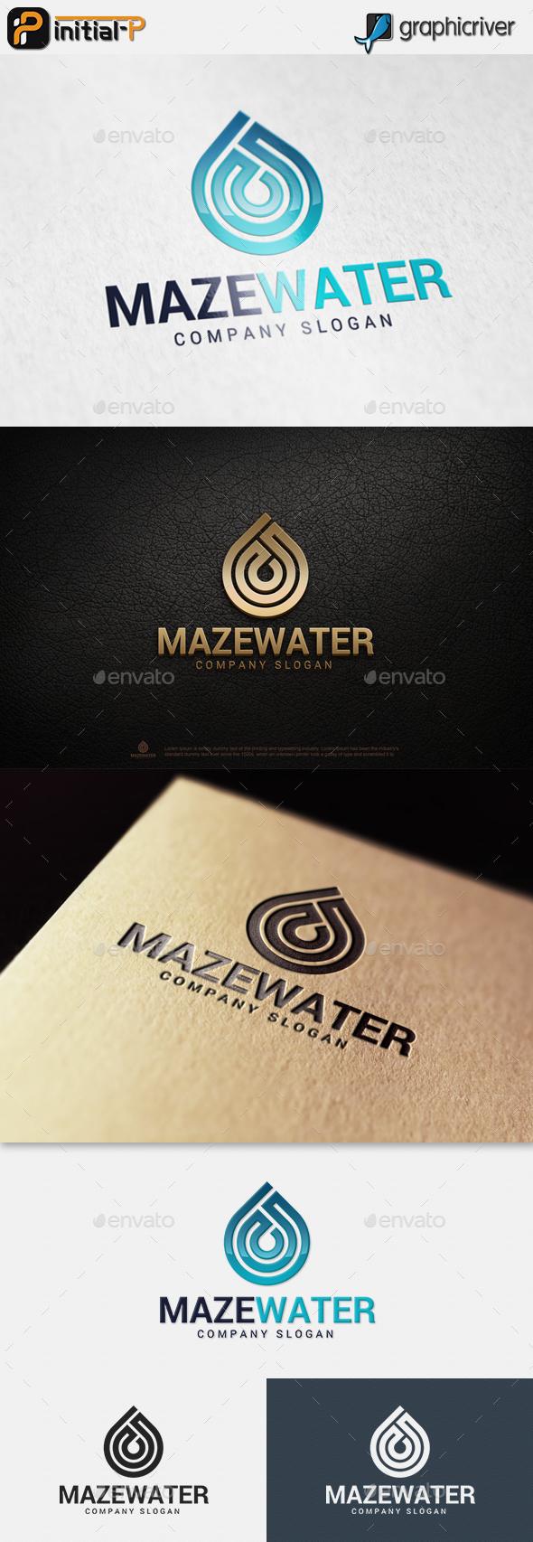 Maze Water Logo - Abstract Logo Templates