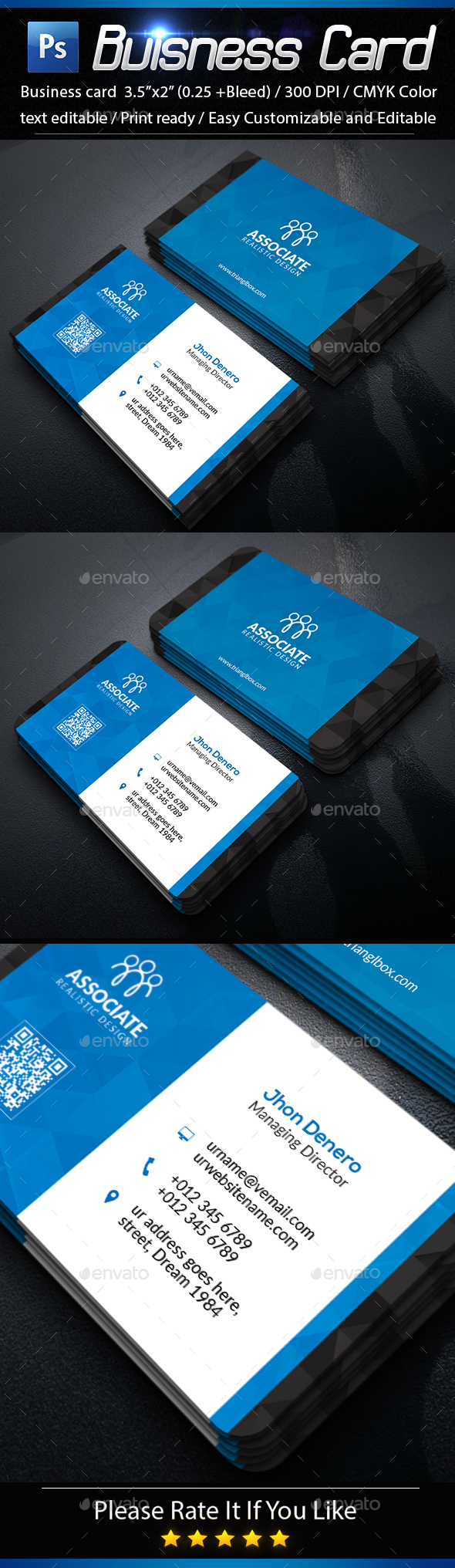 Classic Corporate Business Card Template 7 - Business Cards Print Templates
