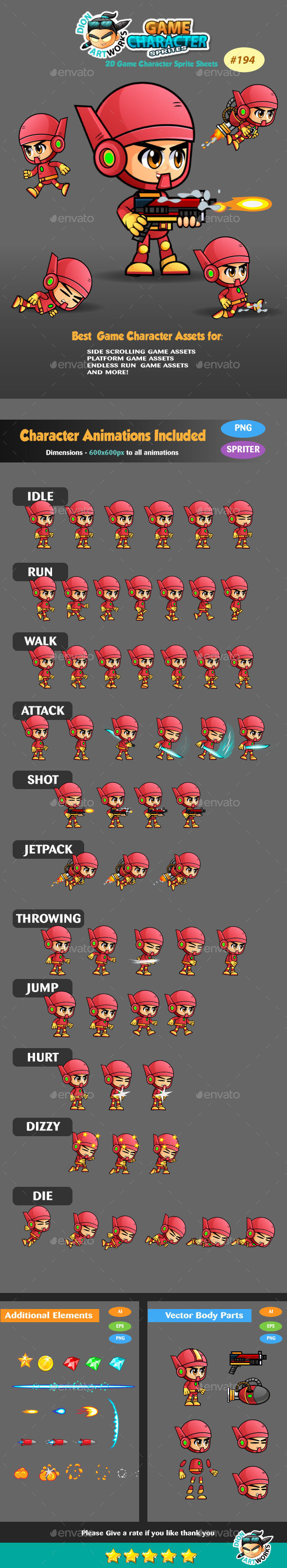 2D Game Character Sprites 194 - Sprites Game Assets