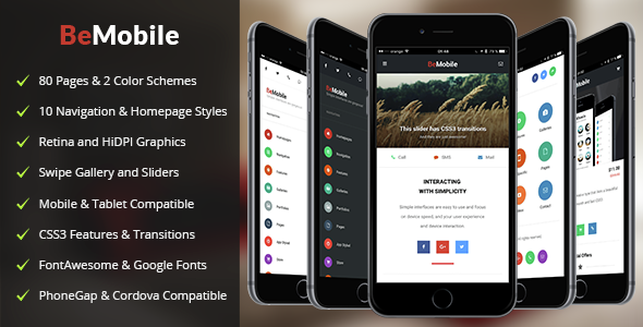 Be Mobile | Mobile Template - Mobile Site Templates