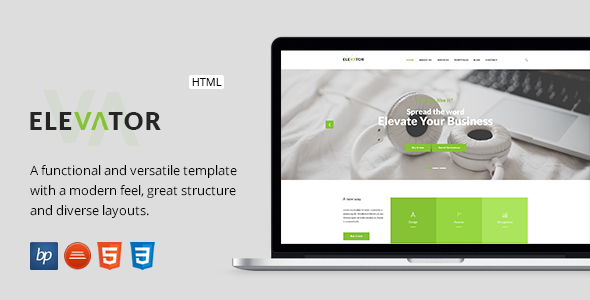 Elevator - Responsive Business HTML5 Template - Business Corporate