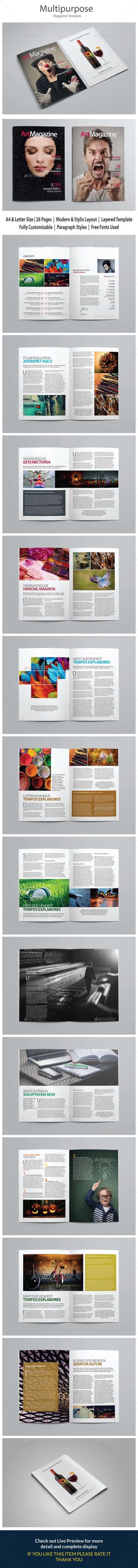 Indesign Magazine Template vol 4 - Magazines Print Templates