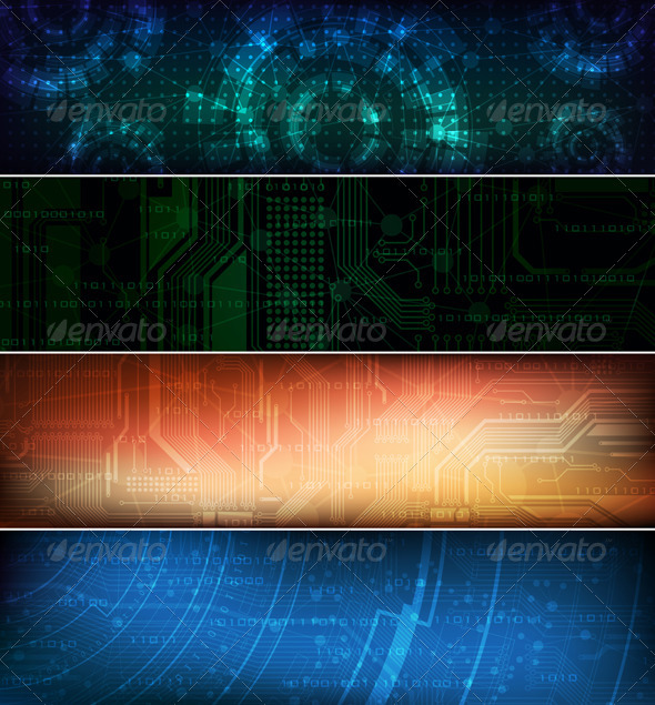 Vector banners - Technology Conceptual