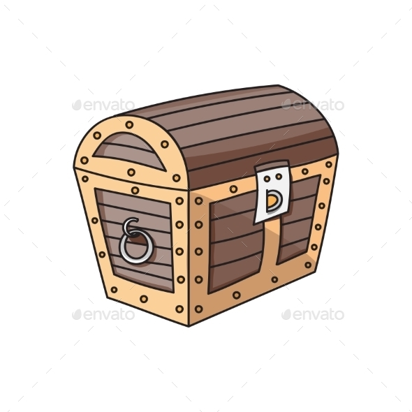 Wooden Box or Chest - Backgrounds Decorative