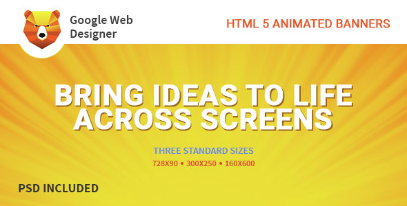 Google Web Design | HTML 5 Animated Banner  - CodeCanyon Item for Sale