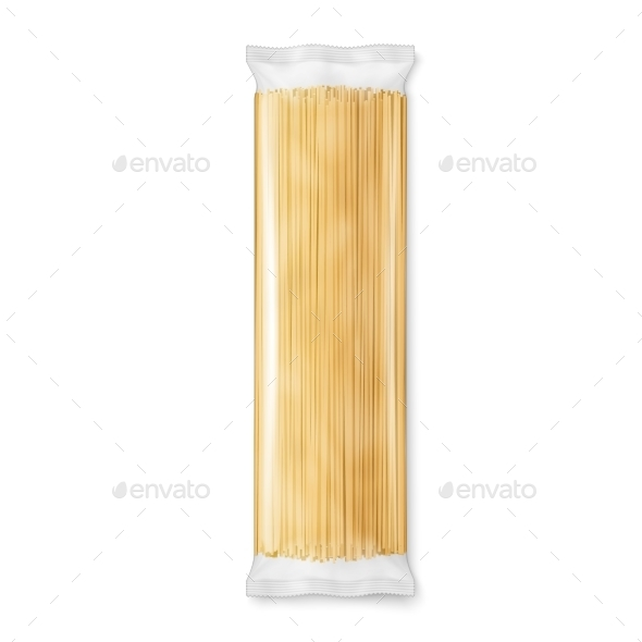 Spaghetti Pasta Transparent Package - Food Objects