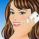 Young Woman Talking on Mobile Phone - GraphicRiver Item for Sale