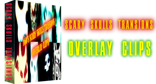 Scary Skulls Transitions (Overlay Clips)