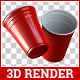 Red Cup 3D Render - GraphicRiver Item for Sale