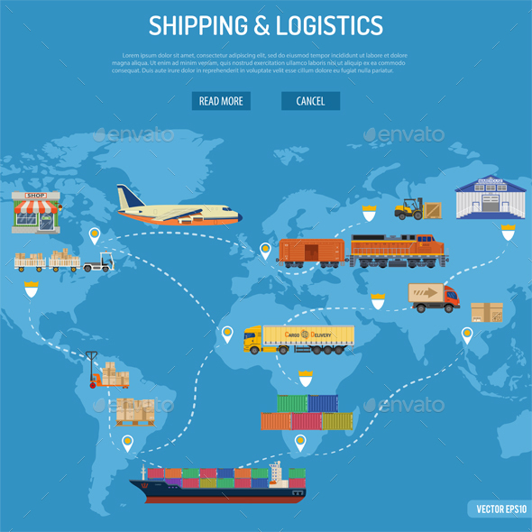 Shipping and Logistics Concept - Industries Business