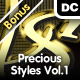 Precious Styles Vol.1 – Gold, Silver, Platinum - GraphicRiver Item for Sale