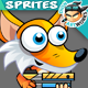 Fox 2D Game Character Sprites 187 - GraphicRiver Item for Sale
