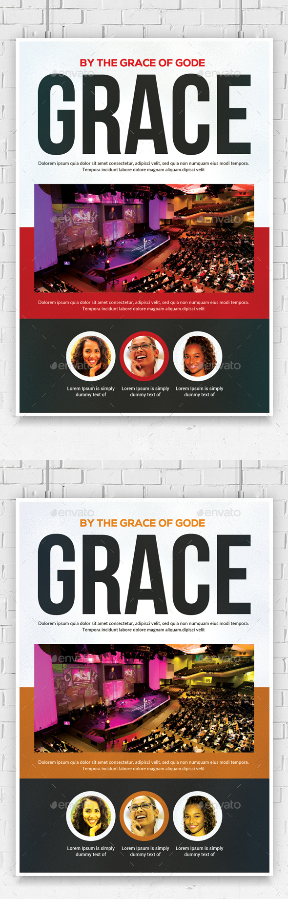 By The Grace of God Flyer Psd - Church Flyers