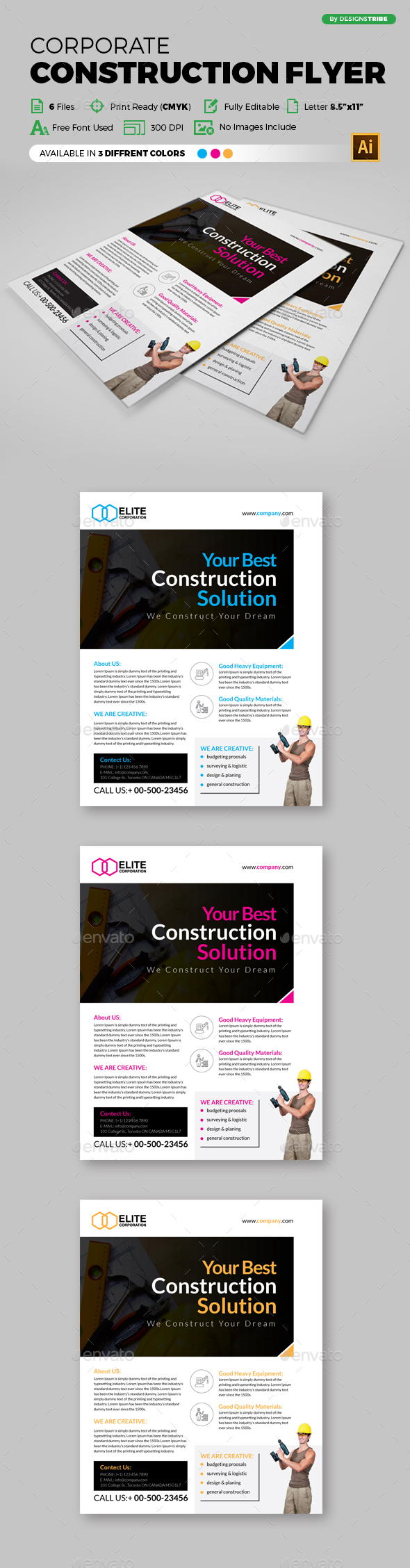 Flyer – Multipurpose 132 - Flyers Print Templates