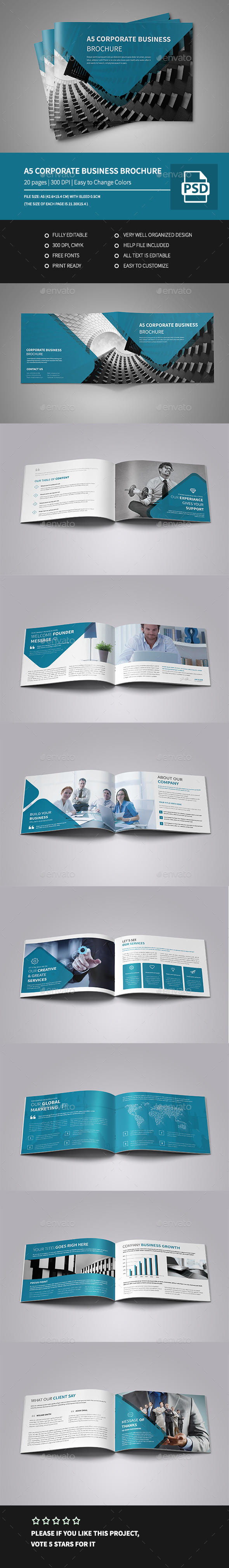 A5 Corporate Business Landscape Brochure - Corporate Brochures