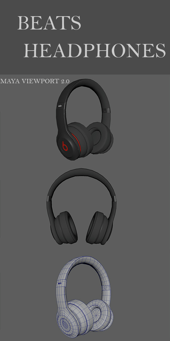 Beats Headphones Solo  - 3DOcean Item for Sale