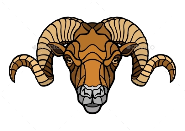 Ram Head Mascot - Animals Characters