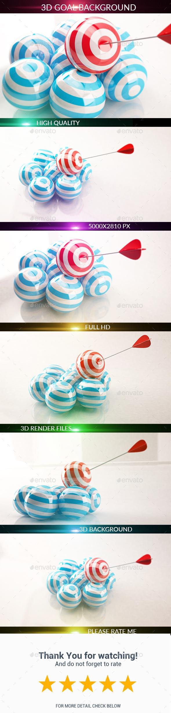 3D Goal - 3D Backgrounds