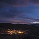 Mountain Sunset with Town and Clouds - VideoHive Item for Sale