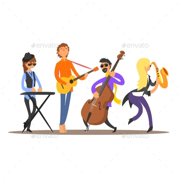 Musicians on the Stage - People Characters