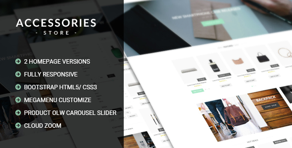 Accessories - Multi Store Responsive HTML Template
