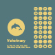 Set of veterinary simple icons - GraphicRiver Item for Sale