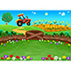Landscape with Tractor and Cornfield - GraphicRiver Item for Sale