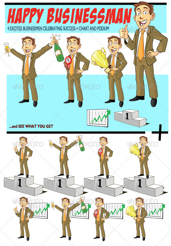 Happy Businessman - People Characters