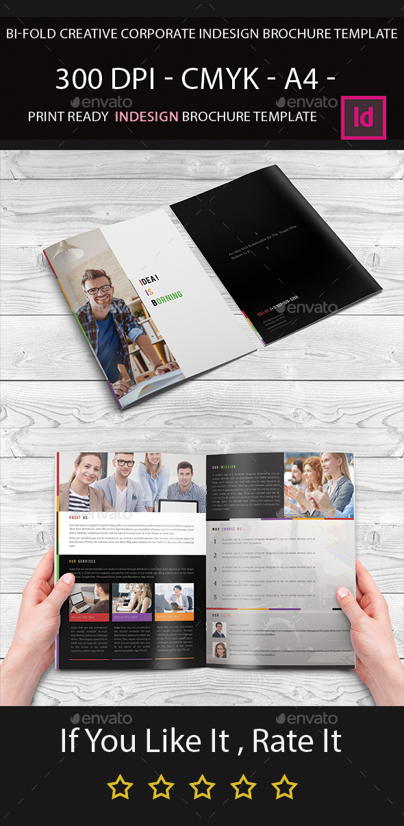 Bi fold indesign brochure template by arnabkumar for Bi fold brochure template indesign