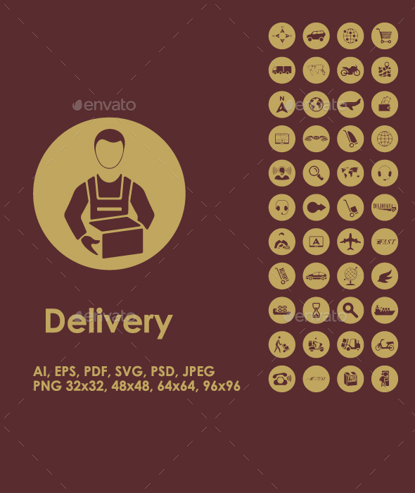 Delivery simple icons - Business Icons
