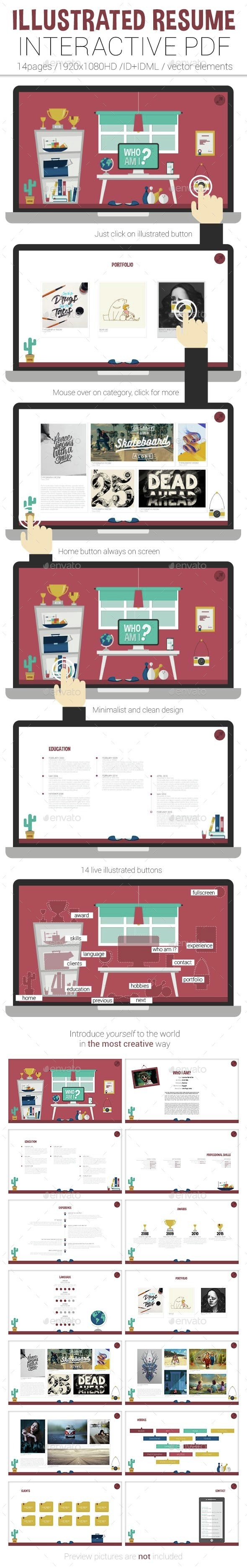 Illustrated Interactive PDF Resume - ePublishing