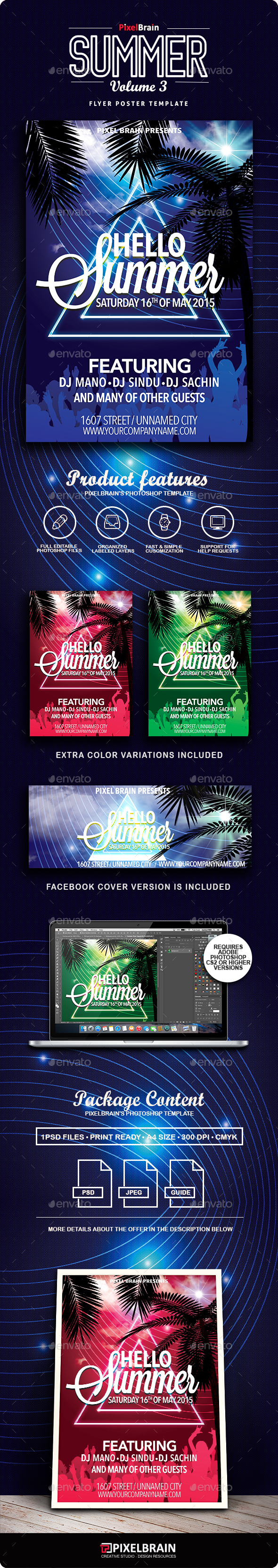 Summer Flyer/Poster Vol. 3 - Events Flyers