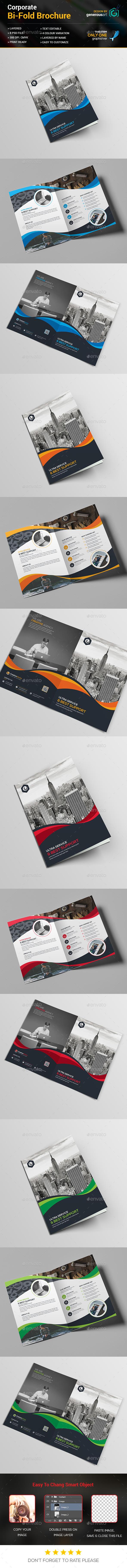 A4 Bi-Fold Brochure Template - Brochures Print Templates