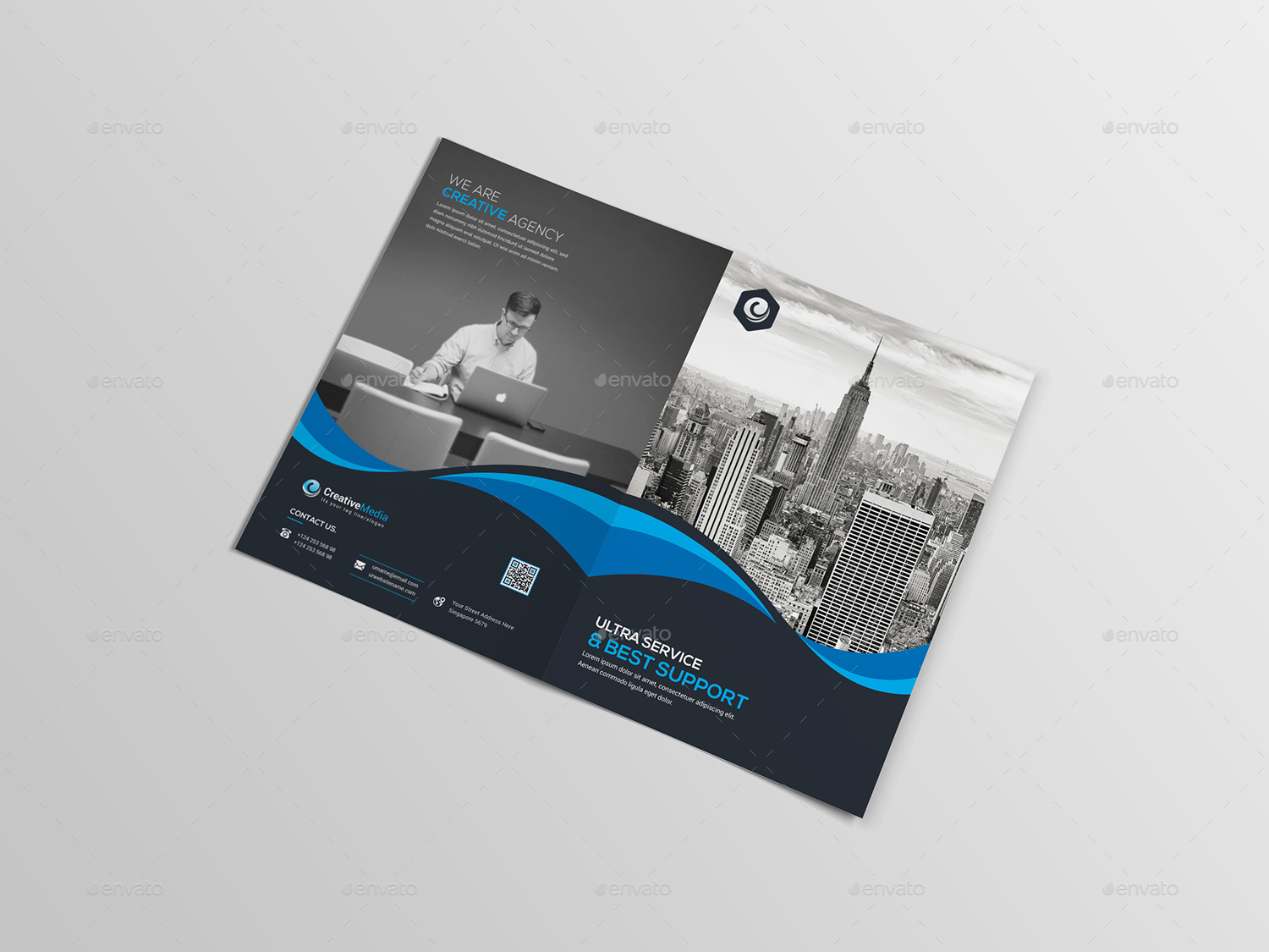 Half fold brochure template powerpoint fieldstation half fold brochure template powerpoint alramifo Images
