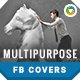 Multipurpose Facebook Covers - 4 Designs - GraphicRiver Item for Sale