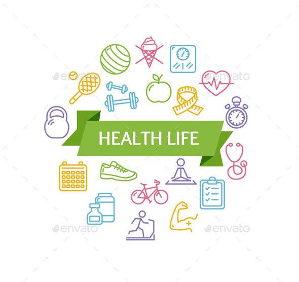 Health Life Fitness Concept - Sports/Activity Conceptual