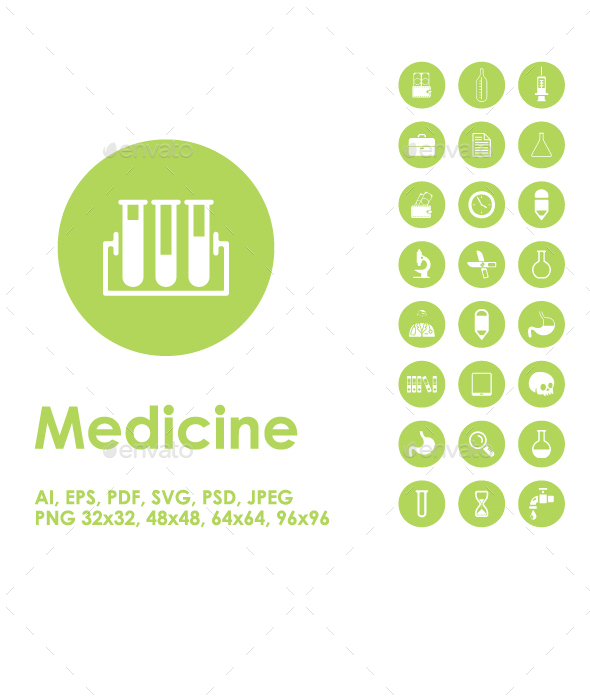 Medicine simple icons - Objects Icons
